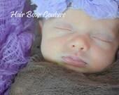 Lavender  Baby Girl Flower Headband, Newborn Flower headband, Toddler Shabby Flower Headband, Newborn Pink Headband