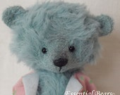 POPPET BLUE an adorable miniature teddy bear