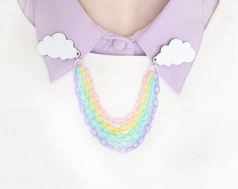 Rainbow collar clips / sweater chain