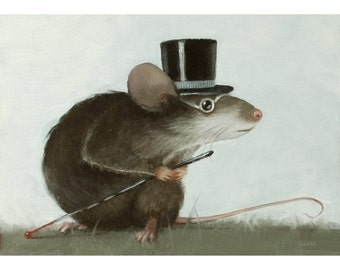 Blind Mouse 3. Signed Print of an Original Oil Painting