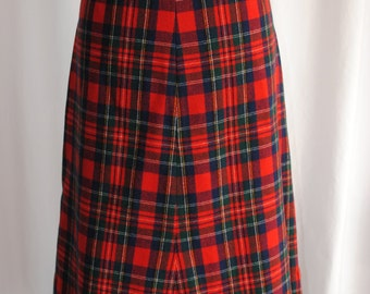 Womens Pendleton Wool Tartan Skirt