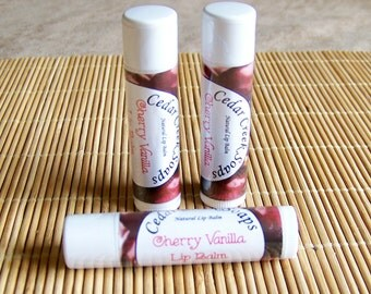 LIP BALM ~ Cherry Vanilla Lip Balm ~ Natural Lip Balms