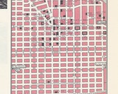 Oakland California Map, City Map, Street Map, 1950s, 2 Sided, Oklahoma City, Oklahoma Map, Black and White, Pink