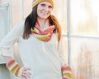 Crochet Pattern - Women's Scarf, Firecracker Cowl, Loop Scarf