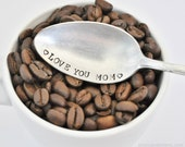 Love you Mom- Hand Stamped Vintage teaspoon for Mom this Mother's Day