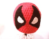 Deadpool Hat Deadpool Beanie Marvel Hat Anithero Hat Crochet Handmade