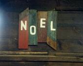 rustic, new england barn wood noel christmas sign. free shipping