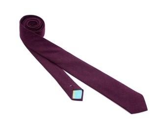 Eggplant Linen Necktie