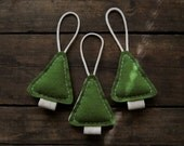 Woodland Tree Ornaments - Primitive Christmas Holiday - Evergreen Woodland Pine
