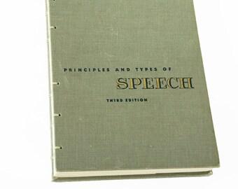 1949 SPEECH Vintage Notebook Journal