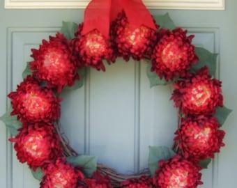 Christmas Wreath - Door Wreath -  XL Wreath For Door - Red Wreath