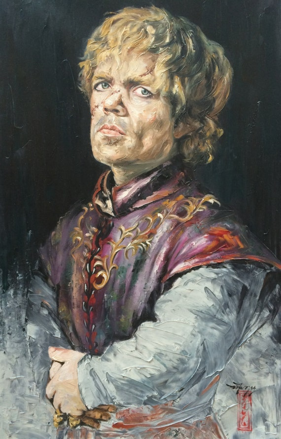Game of thrones tyrion lannister original oil painting on for Decoration murale game of thrones