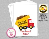 Construction Party Favors , Dump Truck Candy Bags, Goody Bags, Party Favor Bag, Cookie Bags