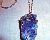 Lavender Natural Stone Necklace Amethyst Druzy Necklace ooak Amethyst Necklace Purple necklace Purple Crystal Necklace Raw Amethyst Necklace