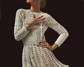 Crochet Swirly Dress Pattern PDF 637 from WonkyZebra