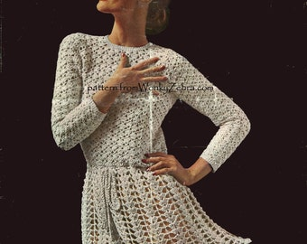 Crochet Swirly Dress Pattern PDF 637 from WonkyZebra
