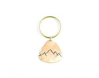 Mountain Range Keychain /\ We are made to conquer mountains