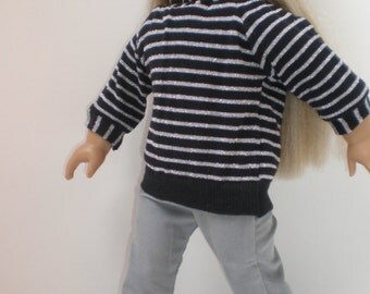 GRAY CORDUROY SKINNY Jeans 18 inch doll clothes