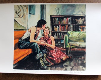 Love is Everything Lesbian Couple Artwork