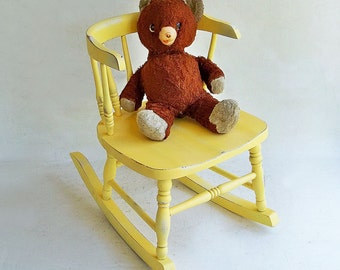 "Distressed Mid Century Teddy Bear ""Well Loved Bear Needs New Home"""