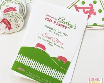 Piggy Party Invites