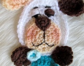 Crochet Pattern Dog Applique Embellishment by Teri Crews Wool and Whims Instant Download PDF Format