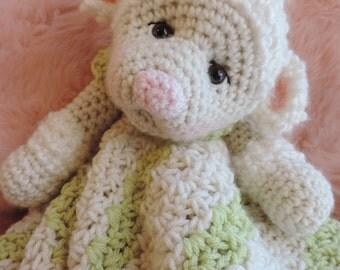 Crochet Pattern Lamb Huggy Blanket Lovey by Teri Crews instant download PDF format