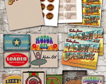 Party Pack-Vintage Radiator Springs Printable Collection-Includes Invitation!