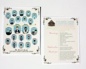 Bridal Party Programs (Profiles) : Custom Illustrated