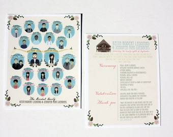 Bridal Party Programs (Profiles) : Custom Illustrated, Design Fee