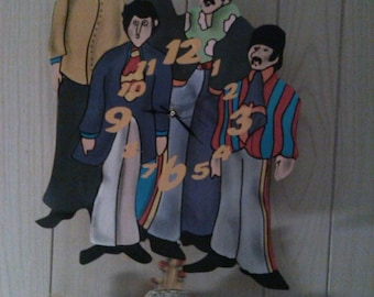 Beatles Yellow Submarine Pendulum Clock