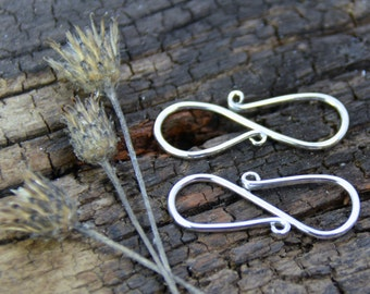Sterling Silver S Hook Clasp Handmade USA Jewelry Supply Findings