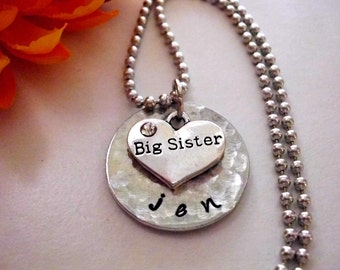 Super Sale Now Sister Necklace, Big Sister Necklace, Personalized Jewelry, Big Sister Jewelry, Personalized Sister Necklace, Jewelry for Sis