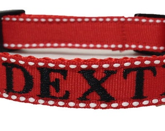 Embroidered Dog Collar - Personalized Dog Collar