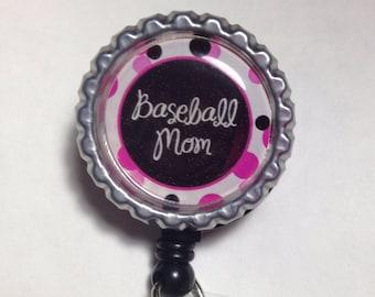 Baseball Mom work badge