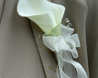 Wedding corsage, Calla lily mother of the bride corsage