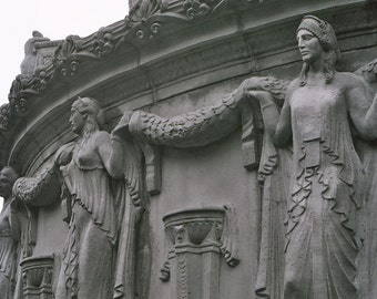 Original Fine Art Photograph Black and White San Francisco Palace of Fine Arts Garland Ladies