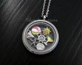 Pick 7 Charms of your choice  /  Floating Locket  /  Memory Locket  / Hand Stamped Jewelry