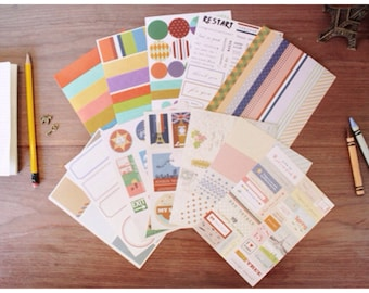 Planner Paper Stickers Vintage style by Iconic 12 sheet ss222