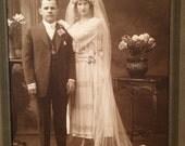 Antique Wedding Photo - Vampy Bride - Gatsby Era - Twenties - Philadelphia ,  PA