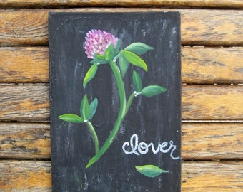 Wildflower Painting - Charity Donation - Chalkboard Art - Botanical Painting - Botanical Art - Flower Painting - Flower Art - Original