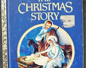 """vintage """"The Christmas Story"""" little golden book"""