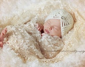 Newborn Girl Hat, Girl Hat, Baby Girl Flapper Hat, Girl Handmade Hat, Kids Hat, Girl Hat, Girl Hat, Baby Hat, Cream. Photo Props. Baby Gift.