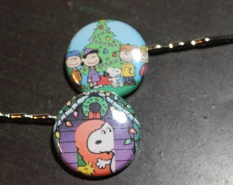 Charlie Brown Christmas Hair Pins Stocking Stuffers