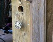 New Beginnings - Natural & Rustic Church House Birdhouse