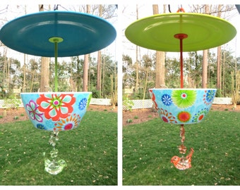 Hanging Retro Floral Bird Feeder-Two Color Choices