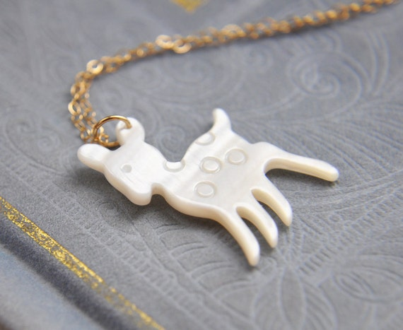 Deer Necklace, Gold Deer Necklace, Animal Necklace, Carved Jewelry, Woodland Jewelry, Small Deer Necklace, Fawn Necklace, Gifts under 25