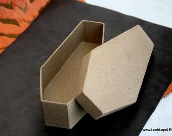 Paper Coffin Box: Halloween Decoration, Centerpiece, Hat Base, CHOOSE SIZE