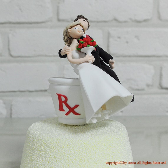 custom wedding cake toppers etsy items similar to pharmacist custom wedding cake topper 13253