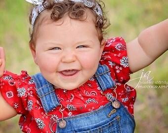 Bow Baby Rockabilly Headband White Bandana Head Scarfs Pinup Baby Headband Hair Accessory Photo Prop Baby Shower Gift #058